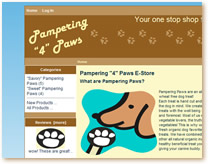 Pampering 4 Paws ecommerce