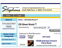 Stephens music ecommerce